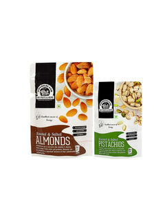 Roasted & Salted Almonds 200gm + Pistachios 100gm