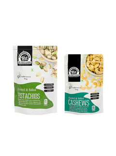 Roasted & Salted Cashews 200gm + Roasted & Salted Pistachios 100gm