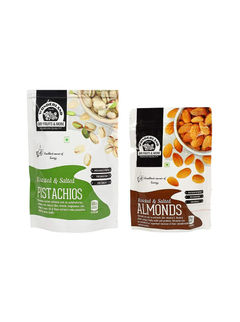 Roasted & Salted Pistachios 200gm + Roasted & Salted Almonds 100gm