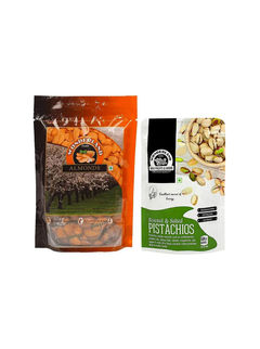 California Almonds 200gm + Roasted & Salted Pistachios 100gm