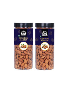 Wonderland Foods Premium Quality California Almonds 1 KG (Pack of 2) (500G Each) (In Jar)