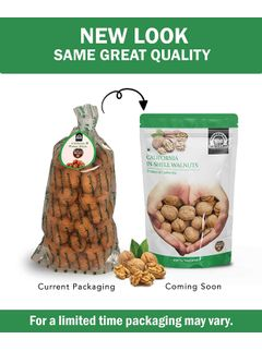 Wonderland Foods Premium California In-shell Walnuts 1 kg (Akhrot with Shells Jumbo Size)