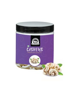 400g Dry Fruits Combo Pack of Premium Food Grade Reusable Jars (Almond 200g with Cashew 200g)
