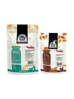Roasted & Salted Cashews 200gm + Roasted & Salted Almonds 100gm