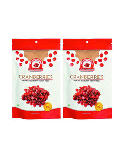 Wonderland Foods Premium Quality Dried Sliced Cranberries 400G Combo, Pack Of 2, 200G Each