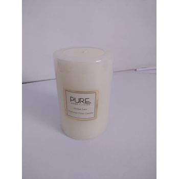 Large White Antique Lace Pillar Candle