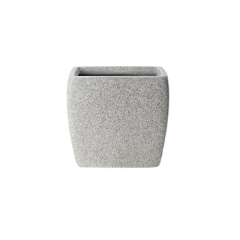 Square Grey Planter