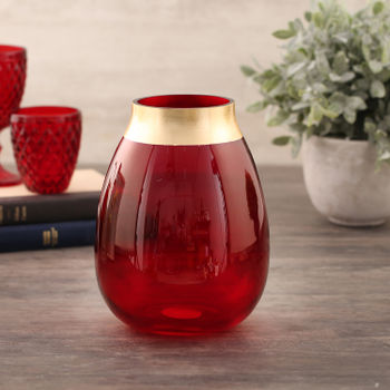 Medium Ruby Red Vase
