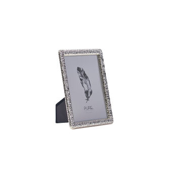 Small Textured Silver Tabletop Frame