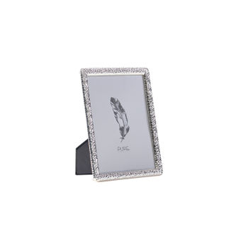 Large Textured Silver Tabletop Frame