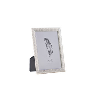 Large Striped Silver Tabletop Frame