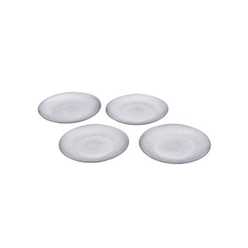 Set of 4 Silver Side Plate