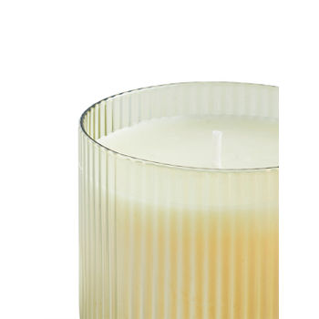 Large Yellow Antique Mohagany Jar Candle