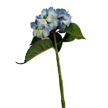 Set of 2 Blue Single Stem Hydrangea Flower