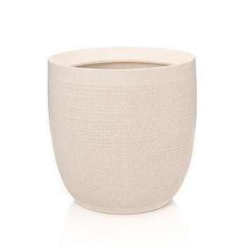 Large Cream Ceramic Modern Vase