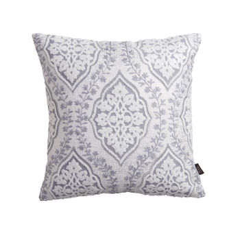 Silver Islamic Art Inspired Cushion Cover