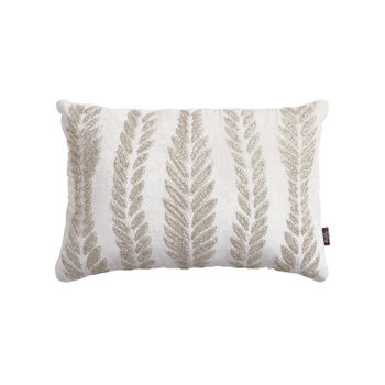 Shimmering Leafy Motif Cushion Cover
