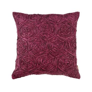 Purple Rosette Cushion Cover