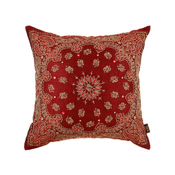 Persian Embroidered Red Cushion Cover