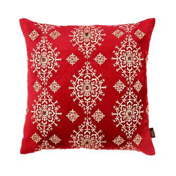 Velvet Foil Printed Mughal Cushion Cover