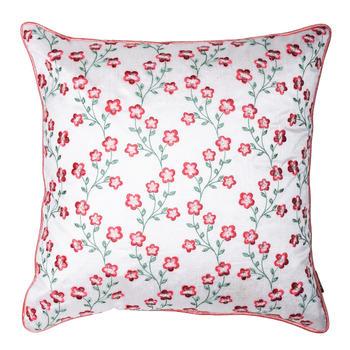 Dainty Floral Motifs Cushion Cover