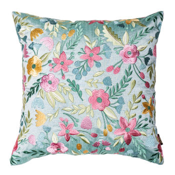 Multicolour Embroidered Spring Cushion Cover