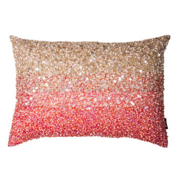Ombre Pink and Cream Luxury Sequin Cushion