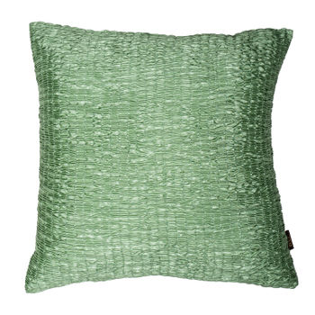 Green Ruched Modern Cushion Cover