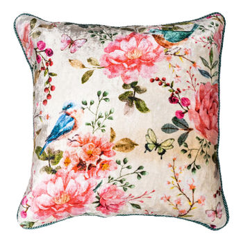 Spring Multicolour Printed Cushion Cover
