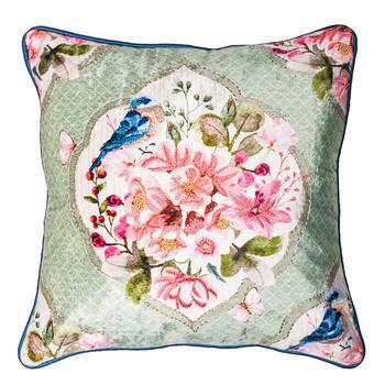 Royal Spring Green Printed  Cushion Cover