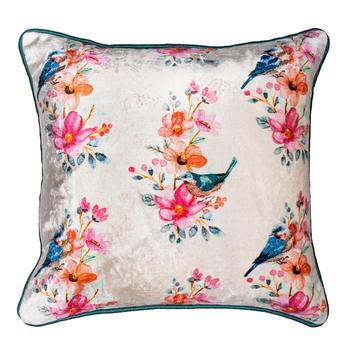 Enchanting Garden Multicolour Printed  Cushion Cover