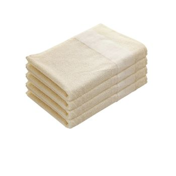 Set of 4: Ivory Hand Towels