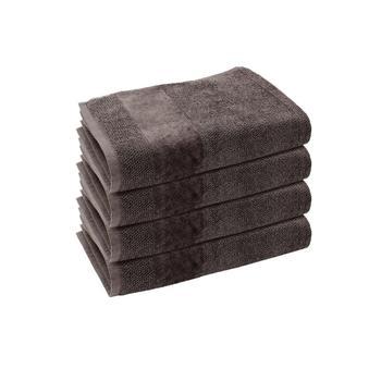 Set of 4: Grey Hand Towels