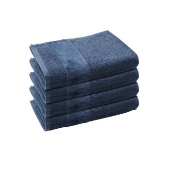 Set of 4: Indigo Hand Towels