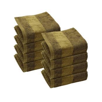 Set of 8: Olive Face Towels