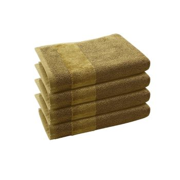 Set of 4: Olive Hand Towels