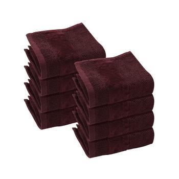 Set of 8: Plum Face Towels