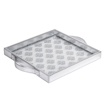 Silver-Floral-Motif-Square-Tray