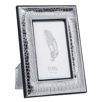 Small-Silver-Croco-Photo-Frame