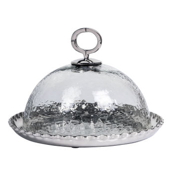 Dome-Shaped-Silver-Cake-Stand