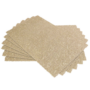 Set-of-6-:-Golden-Abstract-Leaf-Placemats
