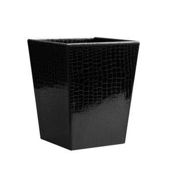 Black and Silver Croco Paper Bin