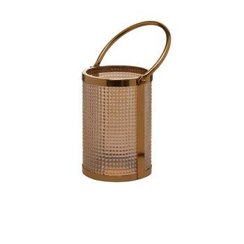 Golden Glass Cylindrical Lantern