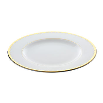 White Golden Lace Dinner Plate