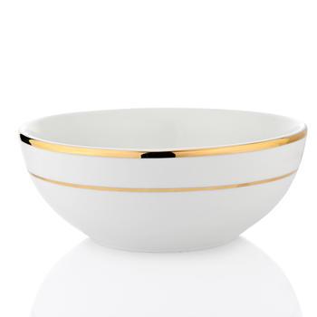 Ivory Golden Line Salad Bowl