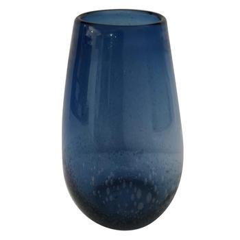 Blue Spring Glass Vase