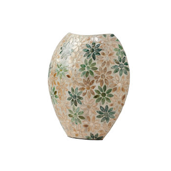 Small Green Oval Vase