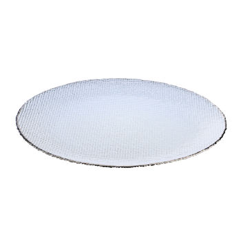 Platinum Shine Silver Charger Plate