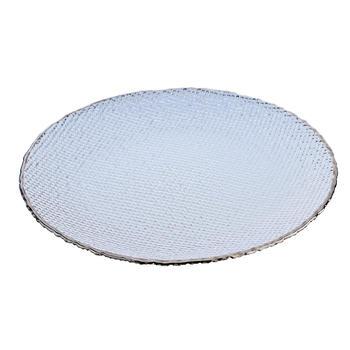 Platinum Shine Silver Dessert Plate