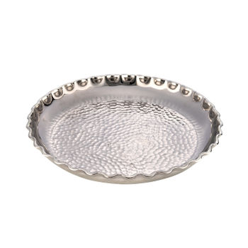 Small Silver Hammered Decorative Plate